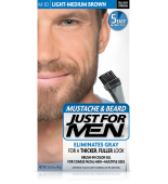 JUST FOR MEN - ZA BRKE IN BRADO barva: lahka srednje rjava M30